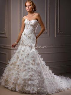 Haute-Couture-Organza passen und Flare Hochzeitskleid mit Weetheart Ausschnitt $270.99 Hochzeits http://www.dazukleider.de