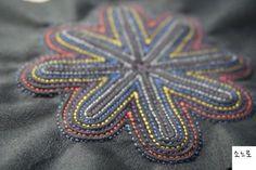 색실누비장지갑