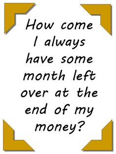 It happens to all of us at times... To some of us it happens all the time...:) #money Click on the larger version of this pin to see how to fix that