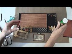 How to build a photo mini album with G45 Olde Curiosity Shoppe paper collection Part 12