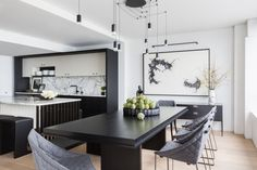A Cramped Kitchen and Dining Room Become One Ideal Entertaining Spot Photos   Architectural Digest