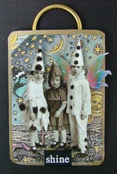 """""""Shining Stars"""" ATC by Amanda Howard of Maygreen Fairies"""