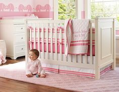 I like the wall elephants - where can I find something like that? Pink Harper & Mini Dot Nursery   Pottery Barn Kids