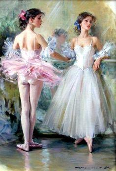 Old Fashioned Ballet Art by Konstantin Razumov. my ballet book when i was lil ♥…