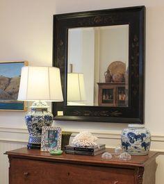 Hand Painted Chinoiserie Mirror
