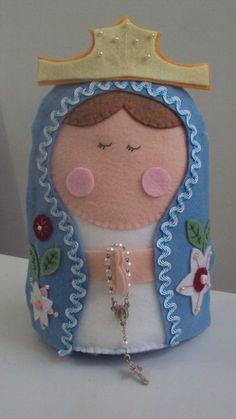 Nossa Senhora de Fátima, $32 em http://ofeliafeliz.com.br