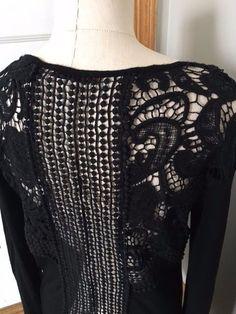 Womens XL BKE red SEXY open LACE back BLACK long sleeved TOP Shirt #BKE #Blouse #ebay #blacktop #fashion