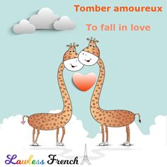 """It's tempting to say """"tomber en amour"""" when expressing the concept of """"falling in love"""" but it's an anglicism to be avoided. Instead, say it like this. #french #learnfrench #lawlessfrench #valentinesday"""