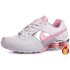 7e887f0d0d7056 Womens Nike Shox Deliver White Pink Silver Baskets Nike