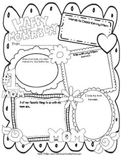 Let your students express themselves and how they feel about their moms by using this x 11 Mother's Day poster. This po. Mothers Day Poster, Happy Mothers Day, English Activities, Writing Activities, Grade 2 English, Mother's Day Projects, Lesson Plans, Letters, How To Plan