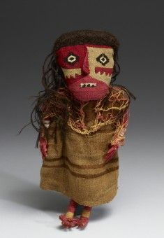 Textile Doll, 1000-1450 (Late Intermediate), cotton, wool, wood, at Walters Art Museum, 2009, by gift.  (http://art.thewalters.org/detail/79394/textile-doll/)