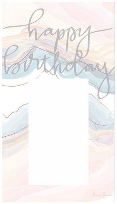 Happy Birthday Template, Happy Birthday Frame, Happy Birthday Posters, Happy Birthday Wallpaper, Birthday Posts, Birthday Captions Instagram, Birthday Post Instagram, Birthday Collage, Instagram Frame Template