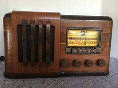 Beautiful Working Silvertone Wood Tube Radio Magic Eye | eBay