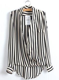 Cross Striped Chiffon Shirt$23.56  http://udobuy.com/goods-10407.html#.UcJ9aNi86O0