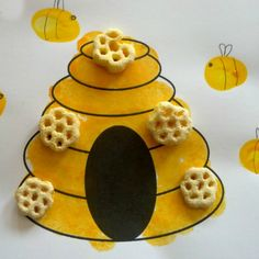 Finger print bees and bee hive!
