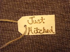 Just Hitched 6 Wedding Favors Mason Jar Glass by KarmaExpressions, $6.00
