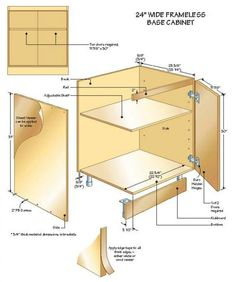 Ana White Build A Kitchen Cabinet Sink Base Full Overlay Face - Frameless cabinet plans
