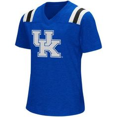 Colosseum Athletics Girls' University of Kentucky Rugby Short Sleeve T-shirt (Blue, Size Small) - NCAA Licensed Product, NCAA Youth Apparel at Acad...