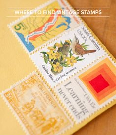 Where to Find Vintage Stamps for #Wedding Invitations, Moving Announcements, and #Baby Announcements: http://ohsobeautifulpaper.com/2014/08/where-to-find-vintage-stamps-for-wedding-invitations/ | Photo: Union Photography