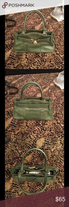 Cole Haan handbag Loden green with gold hardware Cole Haan Bags Satchels