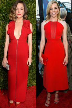 10 chic looks to wear to a wedding this season: Rose Byrne and Elizabeth Banks.