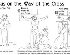 Printable Stations of the Cross for Children:  This one is on two pages and can be colored.  The link is through Catholic Icing.
