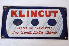 """Rare Vintage Klincut Shaving Blades For A Retro Wall Decor  Get it from our online store:  Singhalexportsjodhpur.Com and search for """" 19480"""" in the search box  Use code EARLYBRD5 to get amazing discounts.  LALJI HANDICRAFTS - WORLDWIDE SHIPPING - EXCLUSIVE HANDICRAFTS  INDIAN DECOR INDUSTRIAL DECOR VINTAGE DECOR POP ART MOVIE POSTERS VINTAGE MEMORABILIA FRENCH REPLICA 