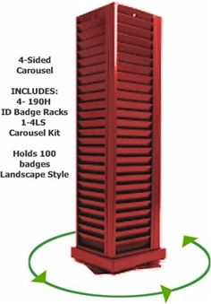 Quality 'Made in the USA' swipe card ID card racks are available in 13 colors. Swipe Card, Name Badges, Id Badge, Business Card Holders, Badge Holders, Card Sizes, Carousel, Tall Cabinet Storage, The 100