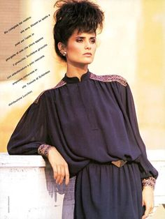 Vogue Italia September 1982 Mila Schön Felice Rilancio Di Tre Temi: Caccia, College E Romantico Photo Renato Grignaschi  Models Karen Howard & Lisa Ryall