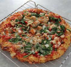 Cauliflower Crust Pizza - the WHOLE pizza is 500 calories.