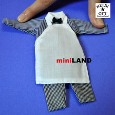"""xz970 HEIDI OTT Men's CLOTHING OUTFIT FOR 1:12 DOLL 6""""h male cook, chef #HeidiOtt"""