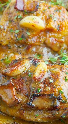 Rustic Roasted Garlic Chicken with Asiago Gravy Recipe : A rustic one pot roast chicken with whole cloves of garlic is a super tasty asiago gravy! Turkey Dishes, Turkey Recipes, Meat Recipes, Chicken Recipes, Dinner Recipes, Cooking Recipes, Game Recipes, Chicken Meals, Rotisserie Chicken