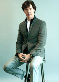 """Ah, a rare pic of Benedict with Sherlock hair but not as Sherlock."""