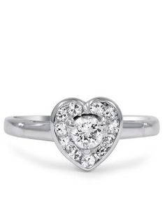 Corazon Heart Ring.I couldn't see this as an engagement ring, but It'd be a cute ring as a gift just because <3