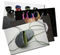 Liz Clay contemporary felt designs - Postcard Collection