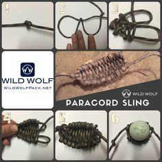 Paracord Rock Sling  #wildwolfparacord #paracordslingshot #paracordsling