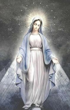 Divine Mother, Blessed Mother Mary, Blessed Virgin Mary, Catholic Prayers, Catholic Art, Religious Art, Jesus And Mary Pictures, Mary And Jesus, Mother Mary Images