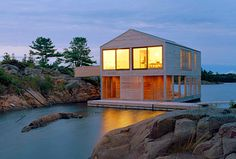 ON THE WATER: Beautiful Lake Huron Floating House by MOS. 1/28/2012 Via @Inhabitat