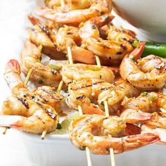 Try these zesty Grilled Chile-Lime Shrimp for dinner tonight! Recipe: http://www.bhg.com/recipe/seafood/grilled-chile-lime-shrimp/?socsrc=bhgpin051212