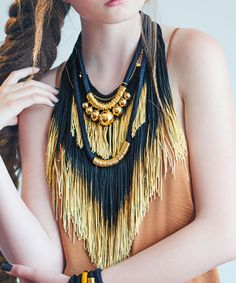 Reason To Be Pretty Ombré Fringe Statement Necklace
