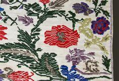 Esempio di tessitura 'a bagas' - Particolare di un copricassa - Pompu