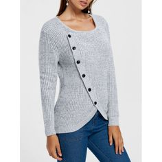 Single Breasted Overlap Sweater