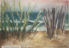 Drawing Pastel Original Art Landscape by PrussianBlueStudio, $200.00