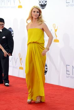 Look at all the yellow on the Emmy red carpet!