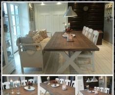 Bilder Dining Table, Rustic, Furniture, Home Decor, Pictures, Country Primitive, Decoration Home, Room Decor, Dinner Table