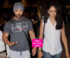 John Abraham and his wifes NON-PDA pictures from the airport might just get tongues wagging!
