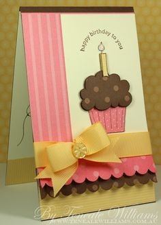 Stampin' Up Card @ DIY Home Ideas- Love the ruffled scallop on the bottom...