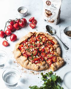 Summer Tomato Galette — The Boy Who Bakes Summer Tomato, Summer Fruit, Galette Recipe, Sliced Tomato, Buckwheat, Cherry Tomatoes, Tray Bakes, Food Styling, Vegetable Pizza