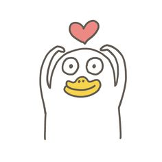 Cute Miss You, Original 151 Pokemon, Duck Illustration, Duck Drawing, Funny Duck, Funny Expressions, Cute Cartoon Characters, Little Duck, Cute Love Pictures