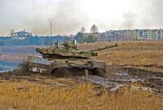 Ukrainian T-84BM Opłot main battle tank